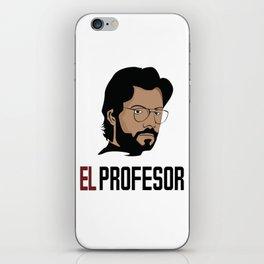 LA CASA DE PAPEL tee shirt El Profesor iPhone Skin