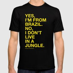 From Brazil III MEDIUM Black Mens Fitted Tee