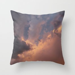 run · sky  Throw Pillow
