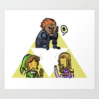 triforce Art Prints featuring Triforce by JosephGribbin