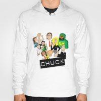 chuck Hoodies featuring CHUCK by Seedoiben