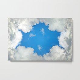 clouds frame Metal Print
