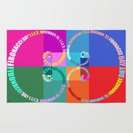 Fibonacci Day, Typographic Rug