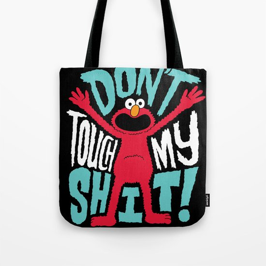 Crazy Elmo Tote Bag