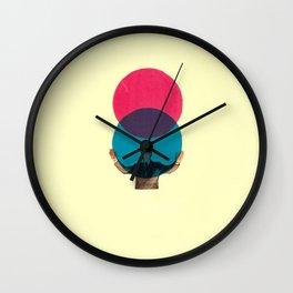 Lua Azul 3 Wall Clock