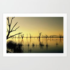 The Golden Lake Art Print