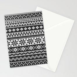 Fair Isle Black Stationery Cards