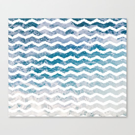 Waves #home #art #prints Canvas Print