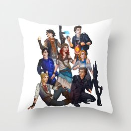 The Cast of Offbeatworlds Throw Pillow