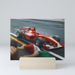 Michael Schumacher winning Mini Art Print