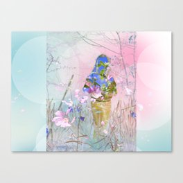 A girl in a forest Canvas Print