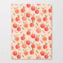 Peaches gouache painting Canvas Print