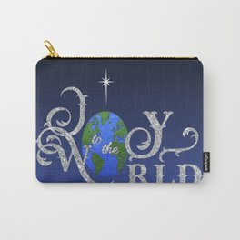 Joy to the World Silver Carry-All Pouch