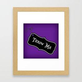"""Throw Me"" Alice in Wonderland styled Bottle Tag Design in 'Shy Violets' Framed Art Print"