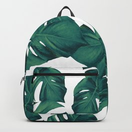 Monstera Leaves Pattern #3 #tropical #decor #art #society6 Backpack