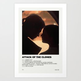 Attack of the Clones Alternative Vintage Poster Art Print