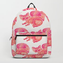 Watercolor Raccoon – Pink Palette Backpack