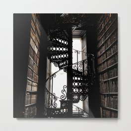 Trinity College Library Spiral Staircase Metal Print