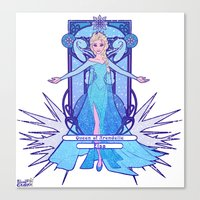 elsa Canvas Prints featuring Elsa by NicoleGrahamART