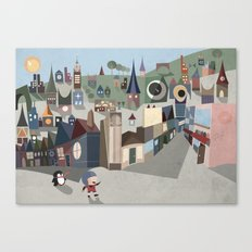 A Boy and his Penguin Canvas Print