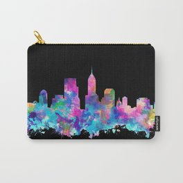 indianapolis city skyline watercolor 5 Carry-All Pouch