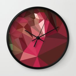 Jazzberry Jam Purple Abstract Low Polygon Background Wall Clock