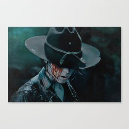 Carl Grimes Shot In The Eye - The Walking Dead Canvas Print