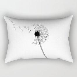 Dandelion Black and White Rectangular Pillow