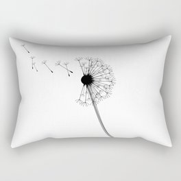 Dandelion Black and White Rectangular Pillow