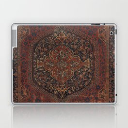 Boho Chic Dark I // 17th Century Colorful Medallion Red Blue Green Brown Ornate Accent Rug Pattern Laptop & iPad Skin