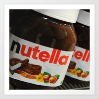 nutella Art Prints featuring Nutella by Max Jones