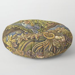 Partridge in a Peace Tree Floor Pillow