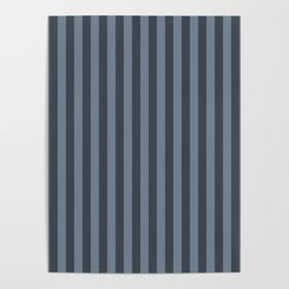 Slate Grey Stripes Pattern Poster