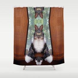 Power of the Paw Hemmingway Shower Curtain