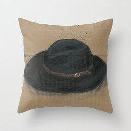 My Fedora is a thing I use to define myself  Throw Pillow