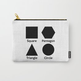 Basic Shapes (Square, Triangle, Circle, Pentagon) Carry-All Pouch