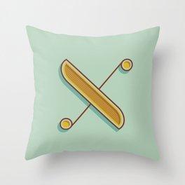 Alphabet Drop Caps Series- X Throw Pillow
