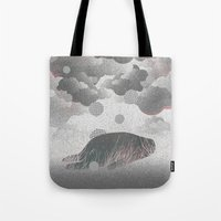 whatever Tote Bags featuring Whatever by Martynas Pavilonis