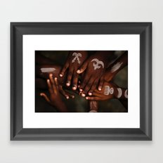 Hands symbol Framed Art Print