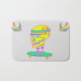 Skull on a skateboard Bath Mat