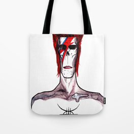Zed Mercury, 'Aladdin Sane' Bowie tribute Tote Bag