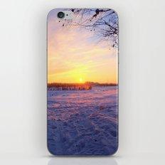 Snowed in peat fields iPhone & iPod Skin