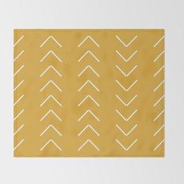 V / Yellow Throw Blanket