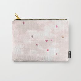 Hot Air Balloons, Violet Carry-All Pouch