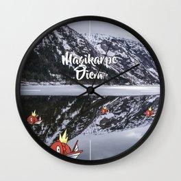 Magikarpe Diem Wall Clock