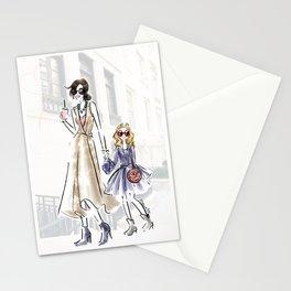 City fashion walk Stationery Cards