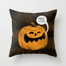 Pumpkin Season Throw Pillow