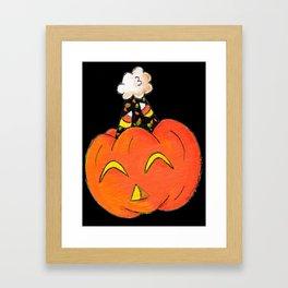 Party Pumpkin Framed Art Print
