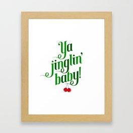 Ya Jinglin, Baby! Framed Art Print