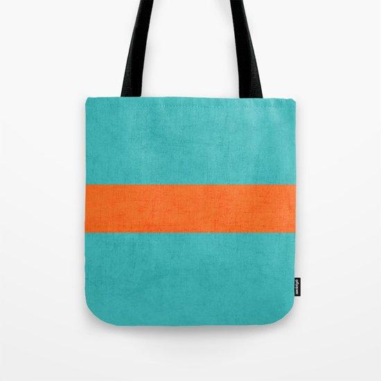 aqua and orange classic Tote Bag